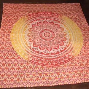 Accessories - Large tapestry wall hanging orange red and yellow